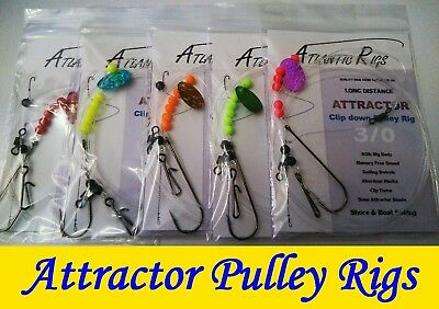 Rough Ground Attractor Pulley Rig Cod Bass Ray Conger Sea Fishing Rigs Clip Down