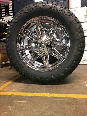 Dodge Ram 1500 Wheels And Tires Packages >> 20 D530 Fuel Hostage Chrome Wheels 33 At Tires Package 5x5