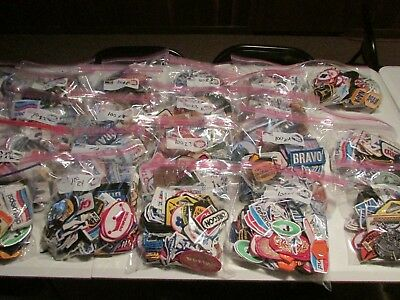 Lot Of 100 Assorted Patches Patch John Deere Ashland Prince Tennis Diet Pepsi