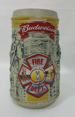 Budweiser Fire Department Firefighters Beer Stein 2001 Honor and Courage