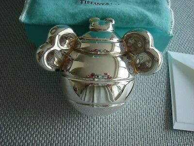 TIFFANY sterling silver ~NEW~ BABY RATTLE 'LADYBUG' RARE!! box,pouch,card,bag