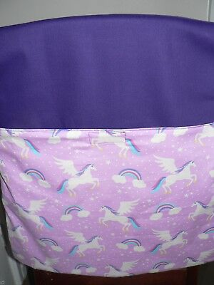 Handmade Chair Bags (unicorn ) Print First name free embroider.