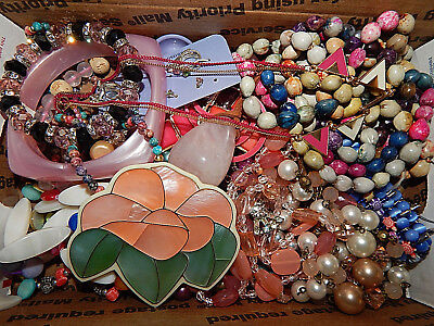 Vintage lot of unsearched/unknown estate Jewelry nice colors #222