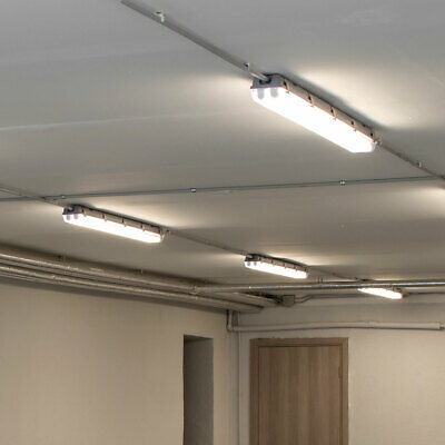 4er Set LED 36 W Industrie Decken Leuchten Feuchtraum Wannen Big Light