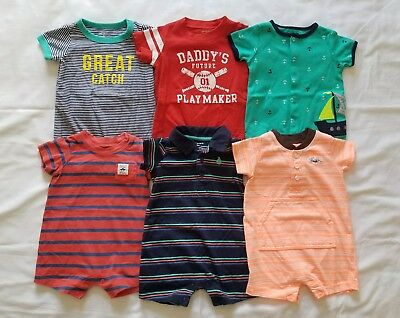 Boys Newborn  0/3 3 months Spring Summer Romper Clothes Outfits Clothing Lot
