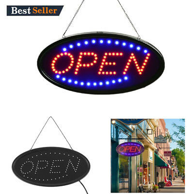 "Ultra Bright LED Neon Light 19x10""Animated Motion OPEN Business Sign with ON/OFF"