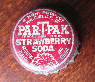 Vintage NEHI Par-T-Pak Strawberry Soda Cork Bottle Cap, South Carolina Tax