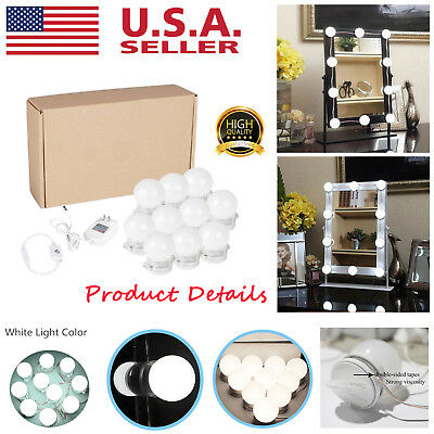 Vanity LED Mirror Light Kit for Makeup Hollywood Mirror with Light 10 Bulbs