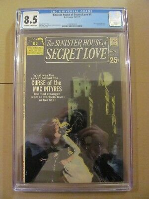 Sinister House of Secret Love #1 DC 1971 Wes Craven Text Story CGC 8.5 VF+
