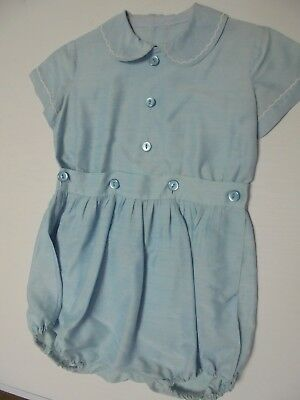 #Sunday Market.Vintage 2 piece Romper Suit. Toddler.Sky Blue, synthetic