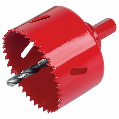 Wolfcraft Hole Saw 80 mm with Hex Shank Tooth Set Drill Bit Cutter 5485000