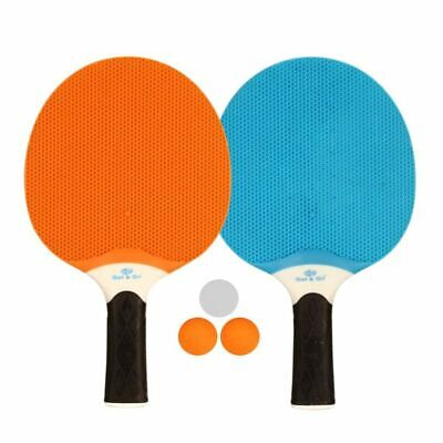 Get & Go Outdoor Table Tennis Set for 2 Players Blue/Orange/Light Grey 61UP