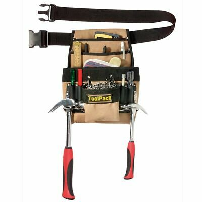 Toolpack Tool Holster Twin-Loop 360.055 10 Storage Options 2 Hammer Loops