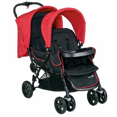 Safety 1st Tandem Baby Toddler Stroller Pushchair Buggy Duodeal Red 11488850