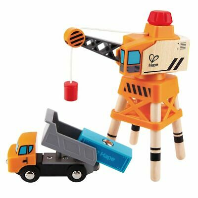 Hape Large Boom Crane Kids Children Baby Wooden Toy Play Set Gift Game E3715