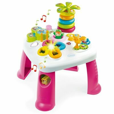 Smoby Cotoons Baby Toddler Play Musical Activity Table Shape Sorter Pink 211170