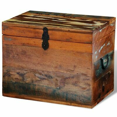 vidaXL Storage Box Solid Reclaimed Wood Entryway Trunk Ottomans Chest Stool