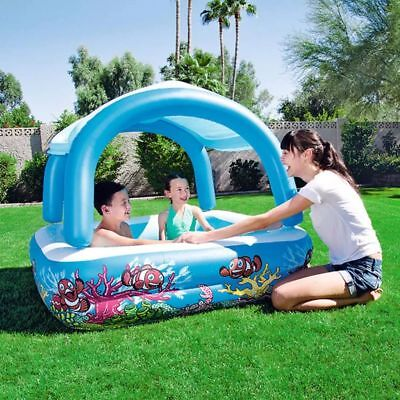 Bestway Canopy Play Pool Blue 147x147x122cm Inflatable Swimming Centre 52192