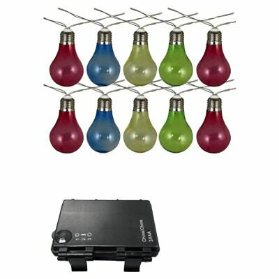 Luxform Battery-operated String Party Lights with 10 LEDs Colourful 95111