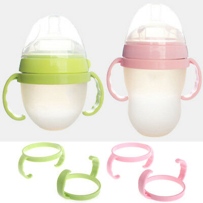 2pcs Baby Feeding Bottle Trainer Easy Grip Plastic Handles Holder for Comotomo