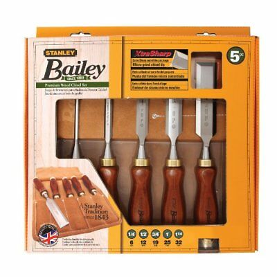 Stanley 16-401 Bailey Chisel Set 5-Piece Chisels Hand Tools Home Garden