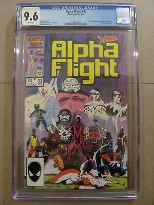 Alpha Flight #33 Marvel Comics 1st app Lady Deathstrike CGC 9.6 Near Mint+