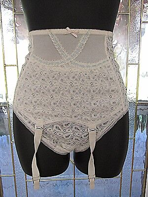 Vintage High Waist Lace Panty Girdle 4 Snap garter