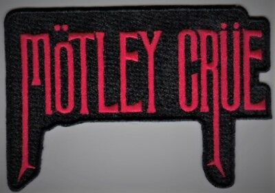 MOTLEY CRUE - RED LOGO - IRON or SEW ON PATCH