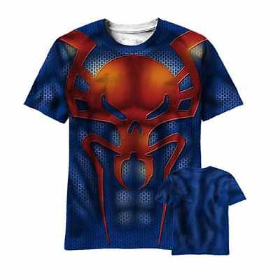 Marvel Ultimate New Spider-Man 2099 Sublimated Costume T-Shirt New