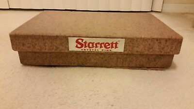 Starrett Granite Surface Plate Grade B Toolroom 12X18 with ledges, Crystal Pink