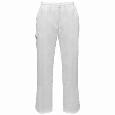 vidaXL 2 pcs Chef Pants Uniforms Stretchable Waistband with Cord Size XL White