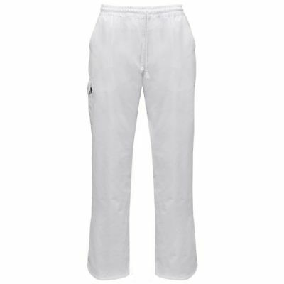 vidaXL 2 pcs Chef Pants Uniforms Stretchable Waistband with Cord Size XXL White