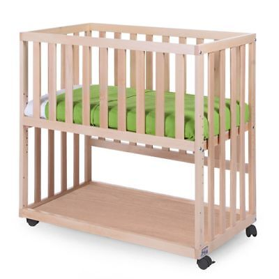 CHILDWOOD Bedside Baby Crib First Bed Sleeping 50x90 cm Beech Natural BSCNNA