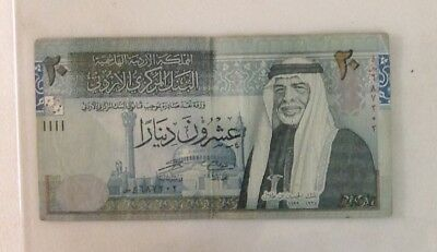 Jordan 20 Dinars Banknote Year 2006 Circulated Paper Money -Hashemite Kingdom