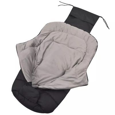 vidaXL Baby Newborn Transport Footmuff / Stroller Buggy Pram Bunting Bag Black