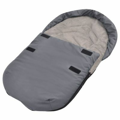 vidaXL Transport Footmuff/Bunting Bag for Baby Newborn Carrier/Car Seat Grey