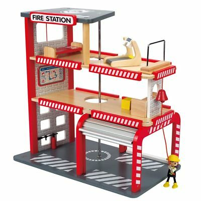 Hape Fire Station E3007 8 Pcs Age 3 Years+ Wooden Toy Children Toddler Play