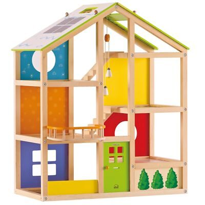 Hape All Season Doll House-Unfurnished E3400 1Pcs Age 3 Years+ Children Play