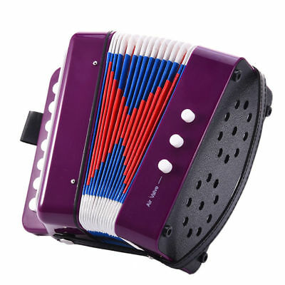 7-Key 2 Bass Children Accordian for Student Beginner Stage Instruments Music Toy