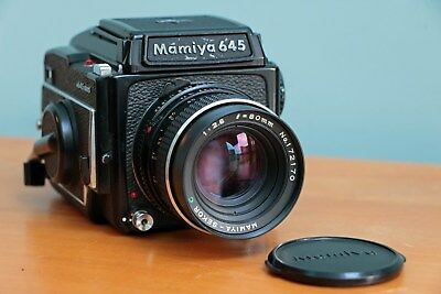Mamiya 645 1000s Medium Format SLR Film Camera with 80mm and 55mm lenses