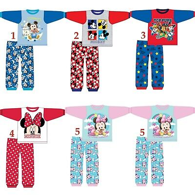 Boys Girls Kids Children Baby Toddler Minnie Mickey Paw Patrol Pyjamas pjs 6-24m