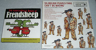 Lot of 2 Pearls Beforfe Swine Books~Crockydile Book Frendsheep~Fans Can't Be Wro