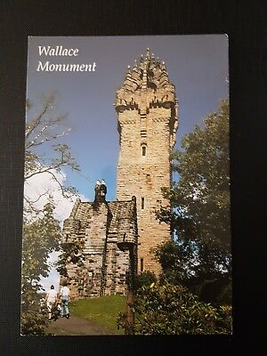Wallace monument Stirling colour postcard posted 1996