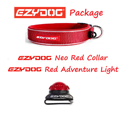 EZYDOG PACKAGE RED Neo Dog Collar & Adventure Collor Light  - All Sizes
