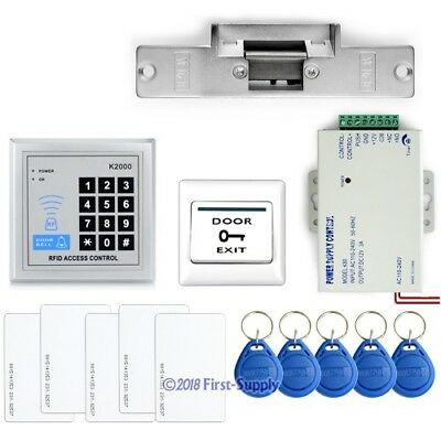 Diy Full Complete Rfid Card Door Access Control Kit With Electric Strike Lock