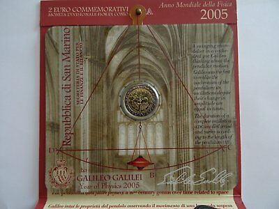 2 € Commemorative Saint Marin 2005 - Bu Galileo Galilei