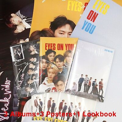[GOT7]Mini Album Eyes On You/Look/3 Albums+3 Unfolded Posters+Preorder Gifts