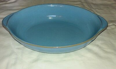 Denby Colonial Blue oval server first quality 12.5 inches