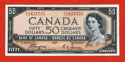 1954 $50 Bank of Canada Devil Face Coyne-Towers A/H Prefix 1421555 - $600 AU