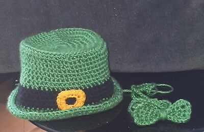 St Patricks Day hat and Bow Tie Ideal for baby Photo shoots